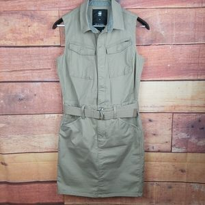 G-star Raw safari style cargo sleeveless dress